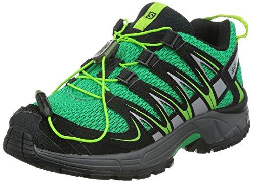 Salomon XA PRO 3D J, Unisex-Kinder Traillaufschuhe, Grün (Real Green/Black/Granny Green), 33 EU (1 Kinder UK)