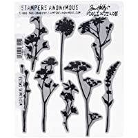 Stampers Anonymous Tim Holtz Cling Sellos ((21,59 x 21,59 cm Flores Silvestres
