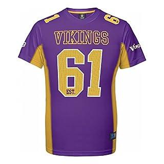 Majestic NFL Mesh Polyester Jersey Shirt - Minnesota Vikings- Gr. M, Lila
