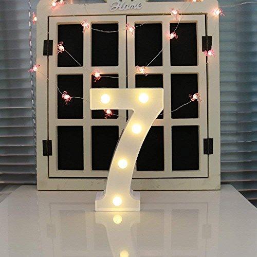 oamore LED Alphabet Licht Brief Dekorative Lampe Licht LED Weiß Beleuchtete Buchstaben und Zahlen für Geburtstag Hochzeit Bar Wandbehang Dekor (7)