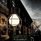 Retro creativa moderna eólica industrial lámpara colgante de hierro de cabezal simple alojamiento restaurante salón, dormitorio estudio granadas de mano negra