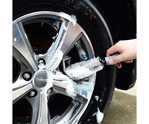 T2O®, spazzola per pulire cerchi in lega e pneumatici, con setole morb
