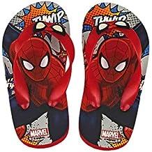 Spiderman - Chanclas para Niños, Tallas 24 a 30 (Tallas 24 a 26 con Elástico Detrás)