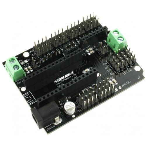 Shield Servo Uno Arduino (DFRobot Nano I/O Shield for Arduino Nano)
