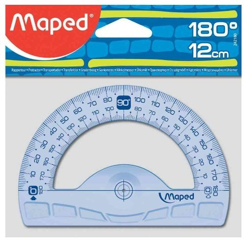 Maped Halbkreis-Winkelmesser Geometric 180 GradI, 120 mm goniometro Confezione da 1PZ