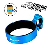 WESTGIRL Bike Kaffeetasse Halter, Café Tasse Lenker Drink Flasche Mount Cruiser Mountain Road Fahrrad Reise Zubehör, Herren damen, blau