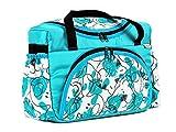 BABYLUX Wickeltasche Kinderwagentasche mit Wickelunterlage für Windeln Flaschen für Kinderwagen (46. Minze + Bäre)