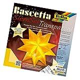 folia 814/2020 - Bastelset Bascetta Stern, Transparent, 20 x 20 cm, 32 Blatt, gelb