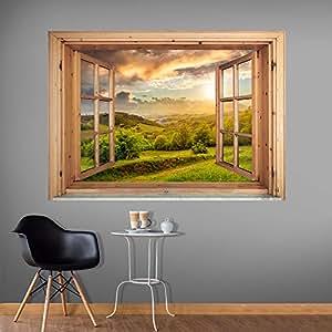 murando 3d wandillusion wandbild fototapete poster xxl fensterblick vlies leinwand. Black Bedroom Furniture Sets. Home Design Ideas