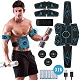 Geternal EMS Bauchmuskeltrainer, EMS Elektrische Muskelstimulation USB-wiederaufladbarer tragbarer Fettverbrennung EMS Trainingsgerät Bauch- / Arm- / Bein-Fitness Trainings Gang(8 Pads)