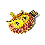 Tomax Eule Kopf Owl Vogel aus Metall mit Kristallen in Geschenkbox als USB Stick mit 32 GB USB Speicherstick Flash Drive