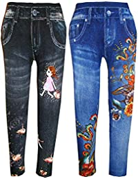 84743f8b277 kids girls denim poly cotton stretchable leggings jeggings bottom for all  ages size(