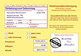 Einladungskarten zum Geburtstag Motiv: Krankenschein (inkl. Druck Ihrer Daten &Texte) Krankmeldung 18 20 30 40 50 60 usw Arbeitsunfähigkeitsbescheinigung Einladung Geburtstagseinladung 18 30 40 50 60 jeder Geburtstag ist möglich