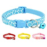Adjustable Pet Collar Necklace with Bell for Small Dog Puppy Kitten Cat