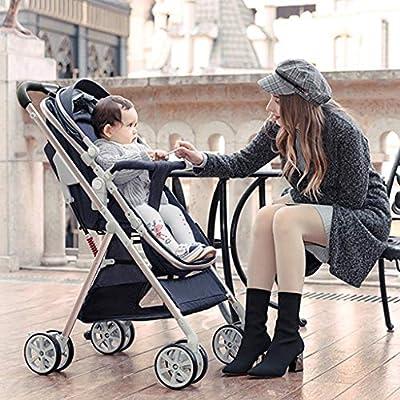 YXCKG Cochecito Doble | Silla de Paseo Doble Ligera con Asientos en tándem Dividir en Dos cochecitos Individuales para bebés y niños pequeños Cochecito de Gemelos antichoque