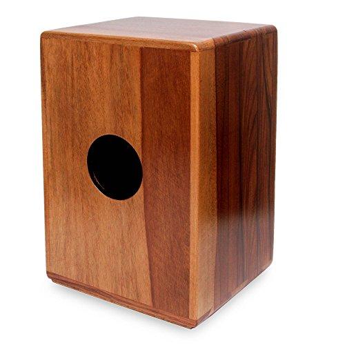 "Price comparison product image NOVICA 124374"" Reverberations Wood Cajon Drum"