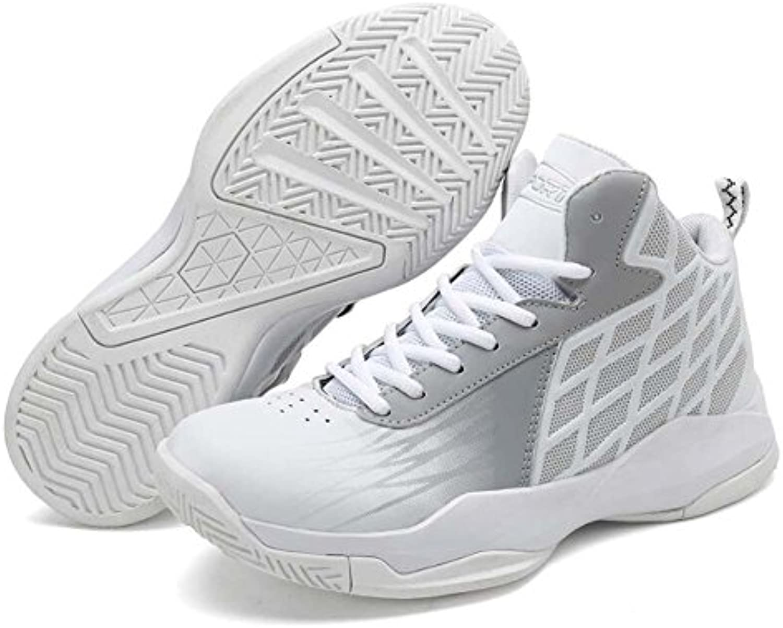 Hombres Zapatillas Altas Zapatos De Baloncesto De Gran Tamaño con Cordones Zapatos De Deporte Transpirable Comodidad  -