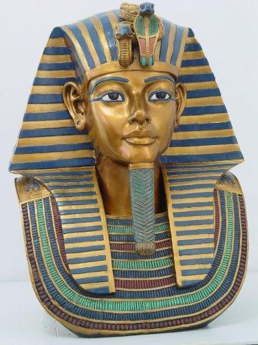 PTC 47,6cm Ägyptische King Tut Kopf und Brust Kunstharz Statue Figur (Statue Von König Tut)