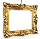 Bilderrahmen Barock Gold 60x70/ 40x50 cm (Antik) Im Retro-Vintage look durch Handarbeit hergestellt für Künstler, Maler. Idealer Gemälde-Rahmen für Ausstellungen STAR-LINE®