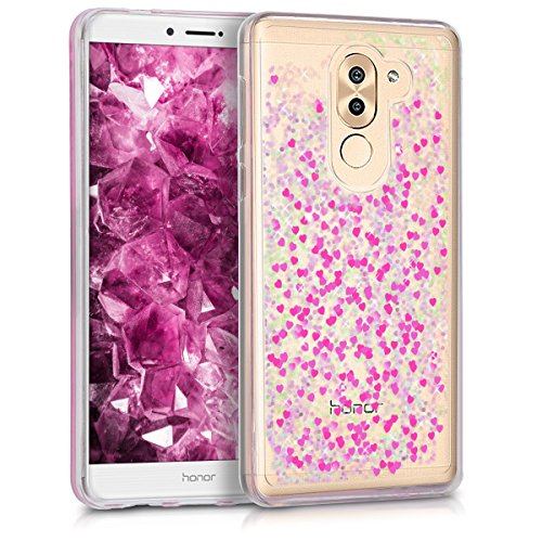 kwmobile Huawei Honor 6X / GR5 2017 / Mate 9 Lite Hülle - Handyhülle für Huawei Honor 6X / GR5 2017 / Mate 9 Lite - Handy Case in Pink Transparent