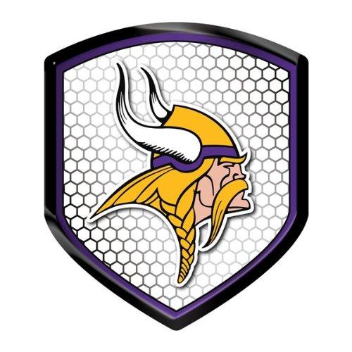 Offiziell lizenzierte NFL Shield Reflektor Aufkleber–Minnesota Vikings