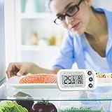Oria Digital Kühlschrank Thermometer Wasserdicht Gefrierschrank Thermometer mit Haken Leicht zu LCD-Display Lesen, Max/Min Funktion Perfekt für Wohnhaus, Restaurants, Bars, Cafes, Eisschrank, etc. - 7