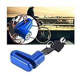 Cisne 2013, S.L. Candado de Disco para Moto de Maxima Seguridad anritobo para Bici, Plegable, de montaña, cajones, candado Multiusos. Medidas 7 mm. Color Azul