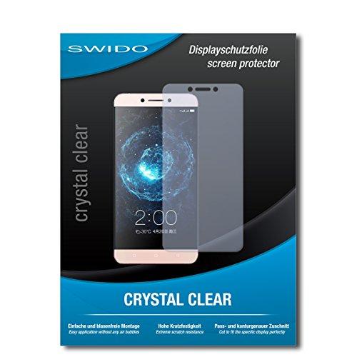 SWIDO Schutzfolie für LeEco Le 2 Pro [2 Stück] Kristall-Klar, Hoher Härtegrad, Schutz vor Öl, Staub & Kratzer/Glasfolie, Bildschirmschutz, Bildschirmschutzfolie, Panzerglas-Folie
