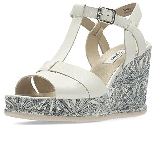 Clarks Adesha Fluss Womens Breiten Keil Heel Sandalen 6.5 D (M) UK/ 40 EU Weiß Clarks Womens Heels