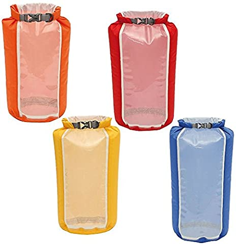 Exped Clear Sight Window Drybag 4 Multi / Transparent Translucent Eco See Through Thru Dry Bag Pack Sack Backpack Rucksack Camping Hiking Sleeping Sport Outdoor Tent Travelling Travel Waterproof Accessories Lightweight Gear Kit Boating Expedition