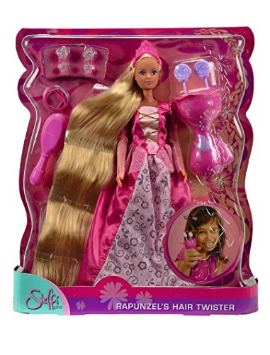 Simba Steffi Love 105737904 Rapunzel Hair Twister - Muñeca Rapuncel con accesorios de peinado, modelos surtidos [importado de Alemania]