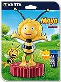 Varta die Biene Maja LED Nachtlicht inkl. 3x High Energy AA Batterien, Taschenlampe Orientierungslicht geeignet für Schlafzimmer Kinderzimmer mit Touch Sensor und Auto Abschaltfunktion