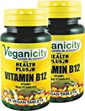 Veganicity Vitamin B12 100µg General Well-Being Supplement - 2 x 90 tabs from Health + Plus Ltd