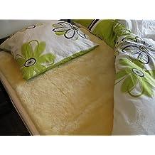 Manta para la cama piel de cordero curtido medicinal Patch 90x190cm