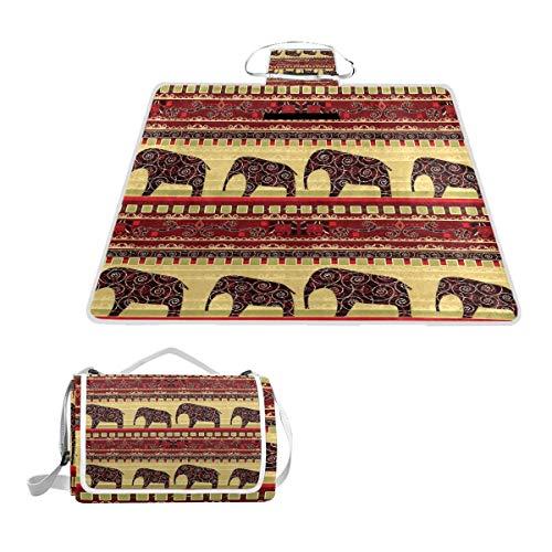 Sotyi-ltd - Manta de Picnic con Estampado Africano y Elefantes, Playa, Senderismo,...