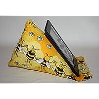 Lesekissen | Lesestütze | Sitzsack | passend für alle E-Book-Reader | Bienen gelb