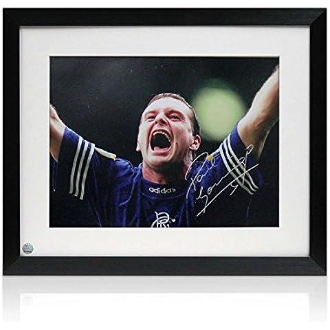 Firmado y enmarcado Paul Gascoigne Rangers Foto: Meta Debut v Celta