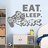 wukongsun Game Player Wandtattoo Eat Sleep Game Aufkleber Schlafzimmer Vinyl Wall Art Controller...