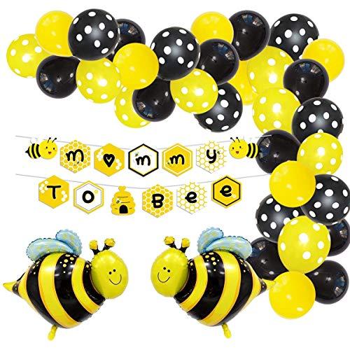 Jollyboom Honig Biene Baby Dusche Dekorationen Bumble Bee Ballon Garland Arch Kit Bumblebee Geschlecht offenbaren Party Supplies Mama Biene Banner