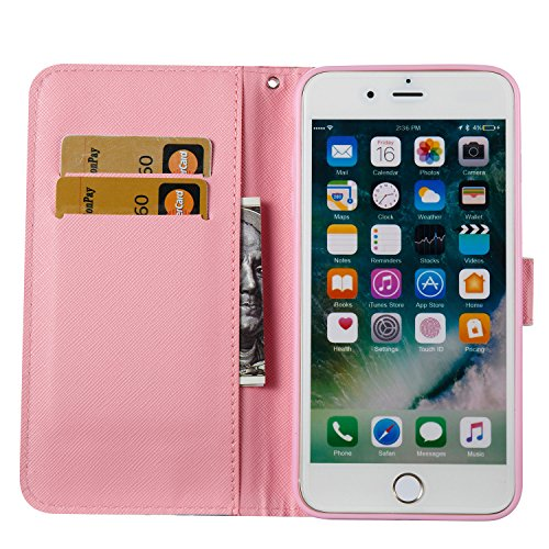 iPhone 7 Plus Coque Luxury Embossed Hearts en PU Cuir 2 x Pièce Strass Bling Cover, Sunroyal Luxe Phone Housse Purse 2 en 1 Wallet Etui Pochette Case Cartes Slots Absorption de Choc Bumper avec TPU In Désign 03