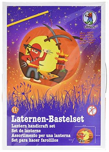 Ursus 18710011 - Laternen Bastelset Easy Line Ninja, ca. 21,8 x 21 x 10,3 (Ninja Kinder)