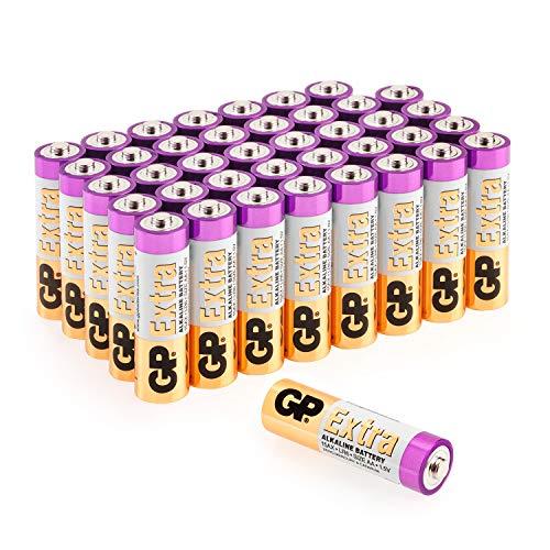 tterien AA Mignon 40 Stück Vorrats-Pack, ideal für die Stromversorgung von Geräten des täglichen Bedarfs (briefkasten-geeignete Verpackung) ()