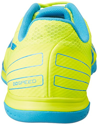 Puma Evospeed Sala 3.4, Chaussures de Futsal Homme Jaune - Gelb (safety yellow-atomic blue 06)