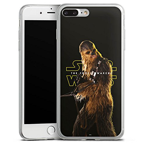 Apple iPhone 8 Plus Slim Case Silikon Hülle Schutzhülle Star Wars Merchandise Fanartikel Chewbacca Silikon Slim Case transparent