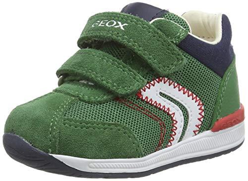 Geox B RISHON Boy B, Zapatillas para Bebés, Verde Green C3000, 25 EU