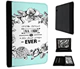 """503 - Floral We All Danced All Night To The Best Song Ever Design Amazon Kindle Voyage 6"""" (2014-2015 Models) Fashion Trend TPU Leder Brieftasche Hülle Flip Cover Book Wallet Stand halter Case"""