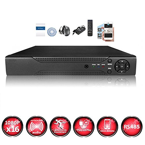 Kit-videovigilancia-12-Cmaras-IP-POE-Pro-Full-HD-1080p-Sony-24-MP–incluye-4000-GB-6-Cable-de-30-m-6-x-20-m-pantalla-19