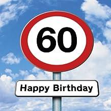 96bf04691b841 Twizler 60th Tarjeta de cumpleaños – Roadsign – 60 años ...