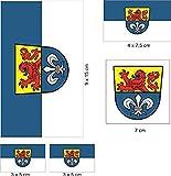 UB Aufkleberbogen Darmstadt Set Flagge / Fahne (Autoaufkleber)