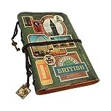 NectaRoy Rétro Vintage Cuir Journal Agenda, Carnet de notes Rechargeable avec Séparation, Bloc-notes Avec des Pages Blanches, Carnet d'écriture, Agenda, Carnet de Voyage, 185x132x30mm
